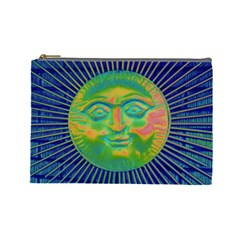 Sun Face Cosmetic Bag (large) by sirhowardlee