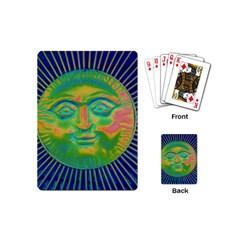 Sun Face Playing Cards (mini) by sirhowardlee
