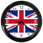 Britain Wall Clock (Black)