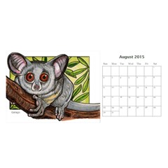 Animal A Month Calendar By Angela   Desktop Calendar 11  X 5    Tp13fyxwnpbl   Www Artscow Com Aug 2015