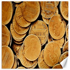 Plenty Of Pennies Canvas 12  X 12  (unframed) by sirhowardlee