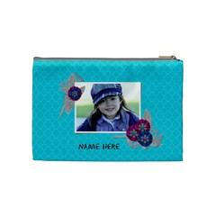 Cosmetic Bag (m): Snowflakes By Jennyl   Cosmetic Bag (medium)   Bgghz24dwctd   Www Artscow Com Back