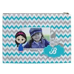 Cosmetic Bag (xxl): Little Girl By Jennyl   Cosmetic Bag (xxl)   5bt143uelwqn   Www Artscow Com Back