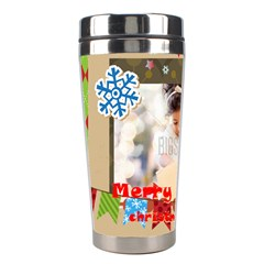 Xmas By Xmas4   Stainless Steel Travel Tumbler   9a0he9ik49pr   Www Artscow Com Left