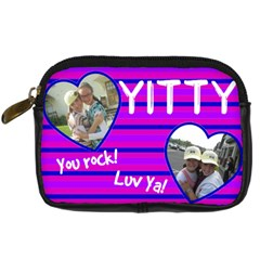Yitty Bday By Kornie   Digital Camera Leather Case   Ejq7u8wqqnvr   Www Artscow Com Front