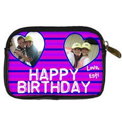 Yitty Bday By Kornie   Digital Camera Leather Case   Ejq7u8wqqnvr   Www Artscow Com Back