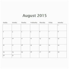Calendar 2015 By Wild Thing   Wall Calendar 11  X 8 5  (12 Months)   5i2ckkr3dbod   Www Artscow Com Aug 2015