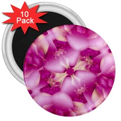 Beauty Pink Abstract Design 3  Button Magnet (10 Pack) by dflcprints