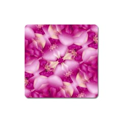 Beauty Pink Abstract Design Magnet (square) by dflcprints