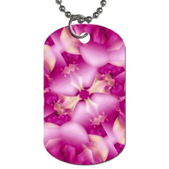 Beauty Pink Abstract Design Dog Tag (two Sided)  by dflcprints