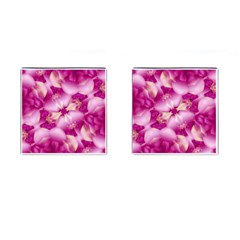Beauty Pink Abstract Design Cufflinks (square) by dflcprints
