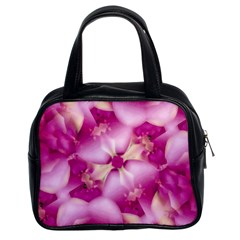 Beauty Pink Abstract Design Classic Handbag (two Sides) by dflcprints