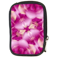 Beauty Pink Abstract Design Compact Camera Leather Case by dflcprints