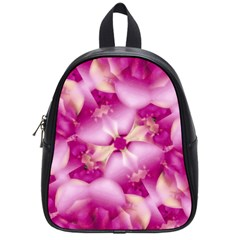 Beauty Pink Abstract Design School Bag (small) by dflcprints