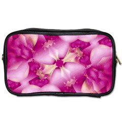 Beauty Pink Abstract Design Travel Toiletry Bag (two Sides) by dflcprints
