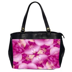 Beauty Pink Abstract Design Oversize Office Handbag (two Sides) by dflcprints
