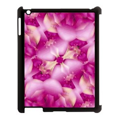 Beauty Pink Abstract Design Apple Ipad 3/4 Case (black) by dflcprints