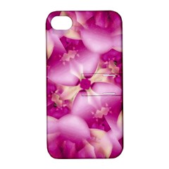 Beauty Pink Abstract Design Apple Iphone 4/4s Hardshell Case With Stand by dflcprints