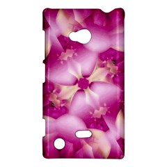 Beauty Pink Abstract Design Nokia Lumia 720 Hardshell Case by dflcprints