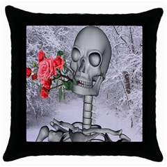 Looking Forward To Spring Black Throw Pillow Case by icarusismartdesigns