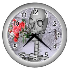 Looking Forward To Spring Wall Clock (silver) by icarusismartdesigns