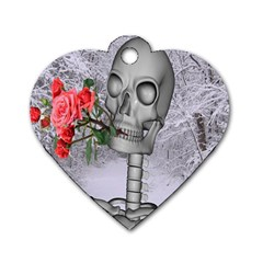 Looking Forward To Spring Dog Tag Heart (two Sided) by icarusismartdesigns