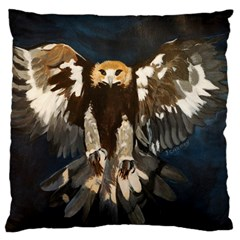 GOLDEN EAGLE Large Cushion Case (Two Sided)  by JUNEIPER07