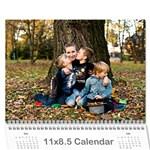 KalendarzHoldy - Wall Calendar 11  x 8.5  (12-Months)