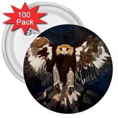 Golden Eagle 3  Button (100 Pack)