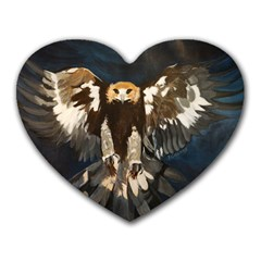 GOLDEN EAGLE Mouse Pad (Heart) by JUNEIPER07