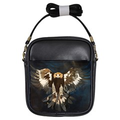 Golden Eagle Girl s Sling Bag by JUNEIPER07