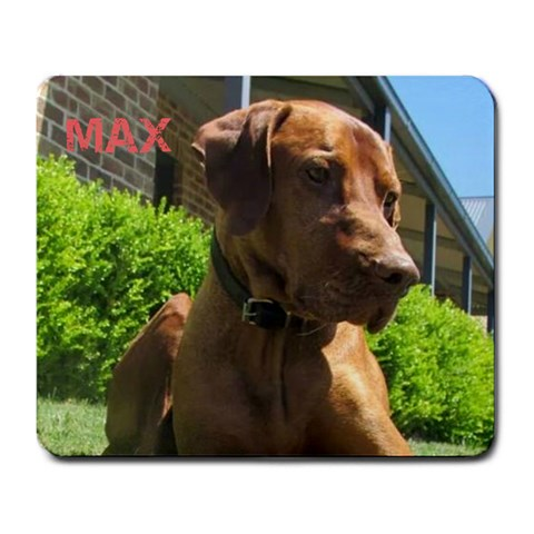Max The Dog By Luke Robertson   Large Mousepad   1lot3r0cks4b   Www Artscow Com Front