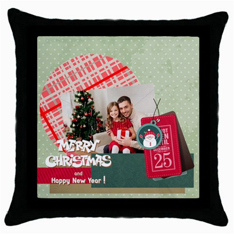 Xmas By Xmas4   Throw Pillow Case (black)   Dtthynjmdq3p   Www Artscow Com Front