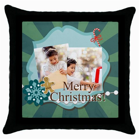 Xmas By Xmas4   Throw Pillow Case (black)   Np7ztan4073p   Www Artscow Com Front