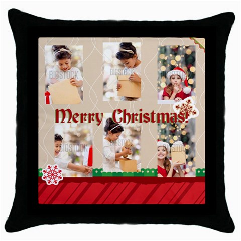 Xmas By Xmas4   Throw Pillow Case (black)   N30bdi1mvd7s   Www Artscow Com Front