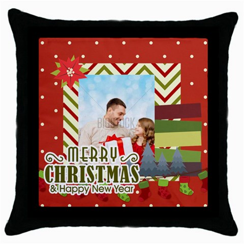 Xmas By Xmas4   Throw Pillow Case (black)   I41bhiby6zqy   Www Artscow Com Front