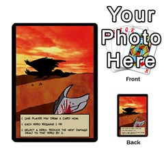 Sentinels 54 Card Promos By Sasha   Multi Purpose Cards (rectangle)   07y5jdkks28u   Www Artscow Com Back 12