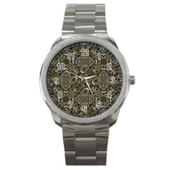 Steam Punk Pattern Print Sport Metal Watch by dflcprints