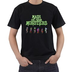 Mash of the Monsters Men s T-shirt (Black) by Cellufun