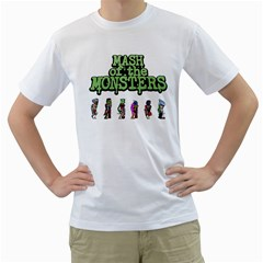 Mash of the Monsters Men s T-Shirt (White)  by Cellufun