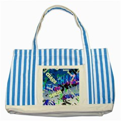Pure Chaos Blue Striped Tote Bag by StuffOrSomething