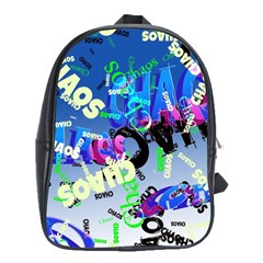 Pure Chaos School Bag (large) by StuffOrSomething