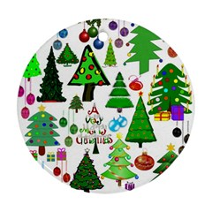 Oh Christmas Tree Round Ornament by StuffOrSomething