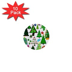 Oh Christmas Tree 1  Mini Button (10 Pack) by StuffOrSomething