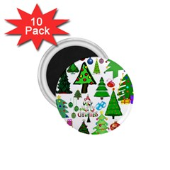 Oh Christmas Tree 1 75  Button Magnet (10 Pack) by StuffOrSomething