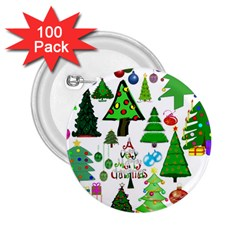 Oh Christmas Tree 2 25  Button (100 Pack) by StuffOrSomething