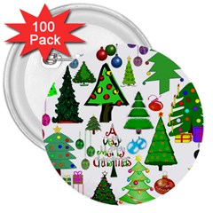 Oh Christmas Tree 3  Button (100 Pack) by StuffOrSomething