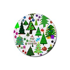 Oh Christmas Tree Drink Coaster (round) by StuffOrSomething
