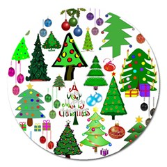Oh Christmas Tree Magnet 5  (Round) by StuffOrSomething