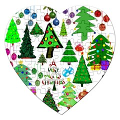 Oh Christmas Tree Jigsaw Puzzle (heart) by StuffOrSomething